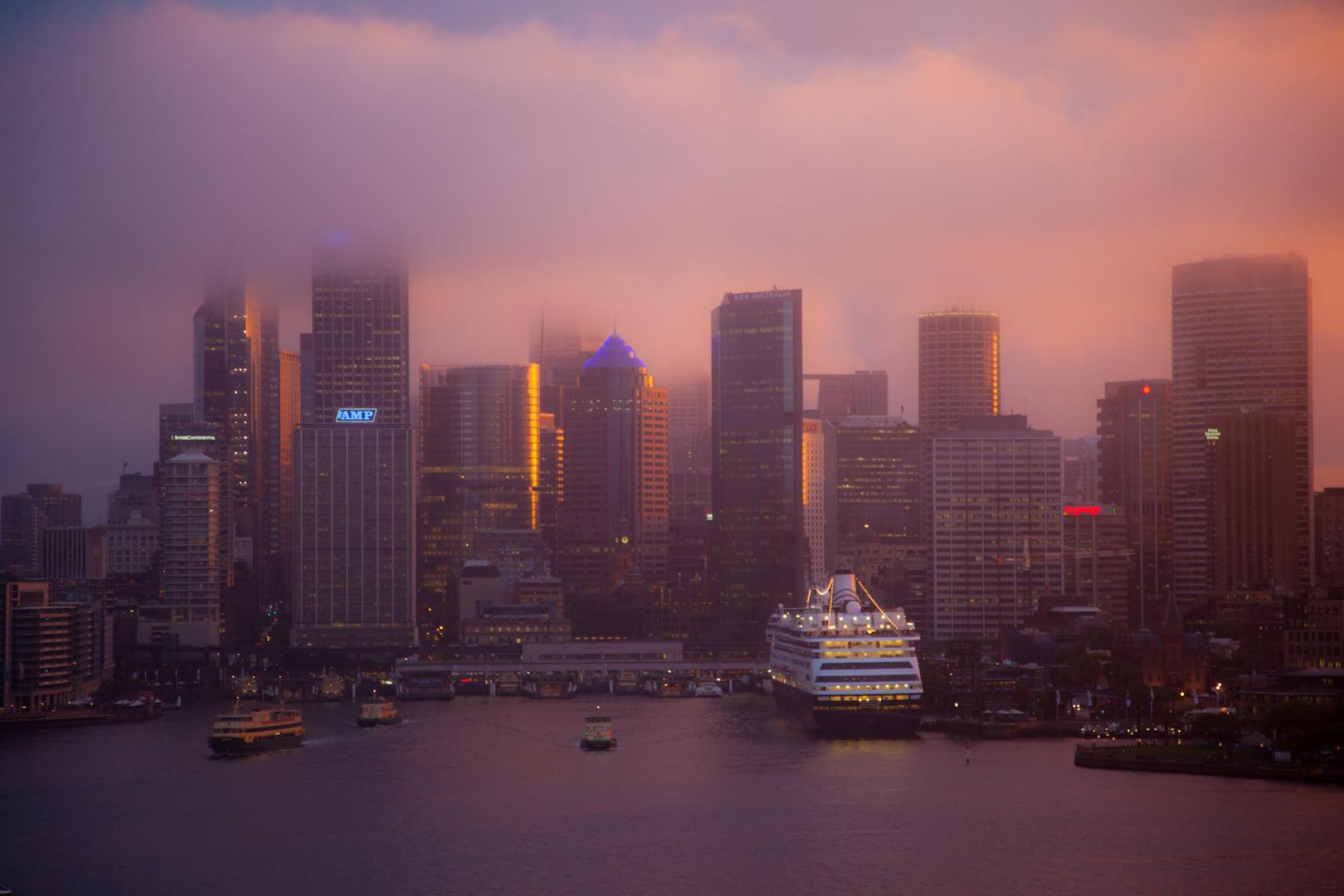 Hafen von Sydney nach Gewitter