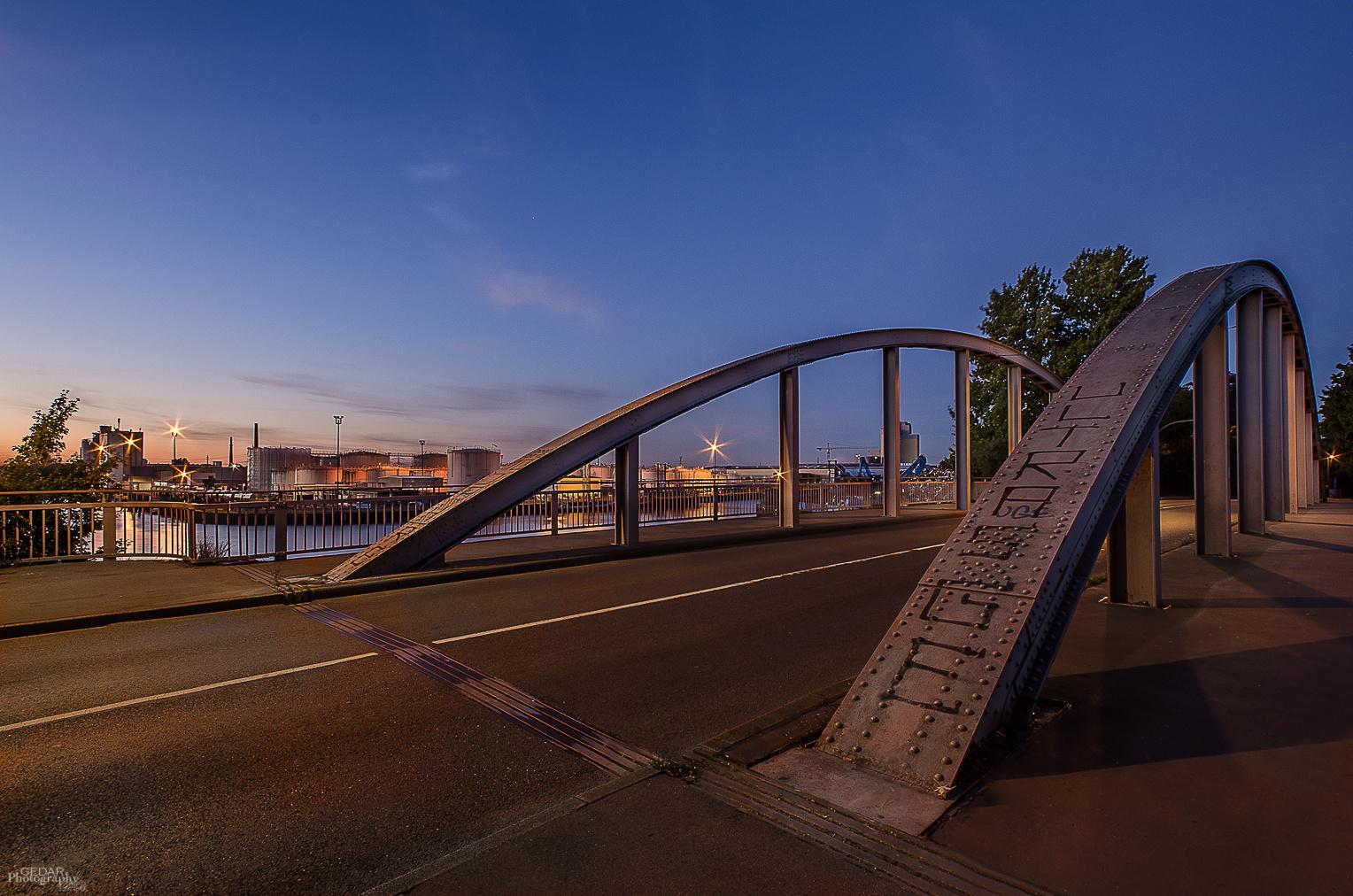 Hafenbrücke an der Uferstraße in Gelsenkirchen