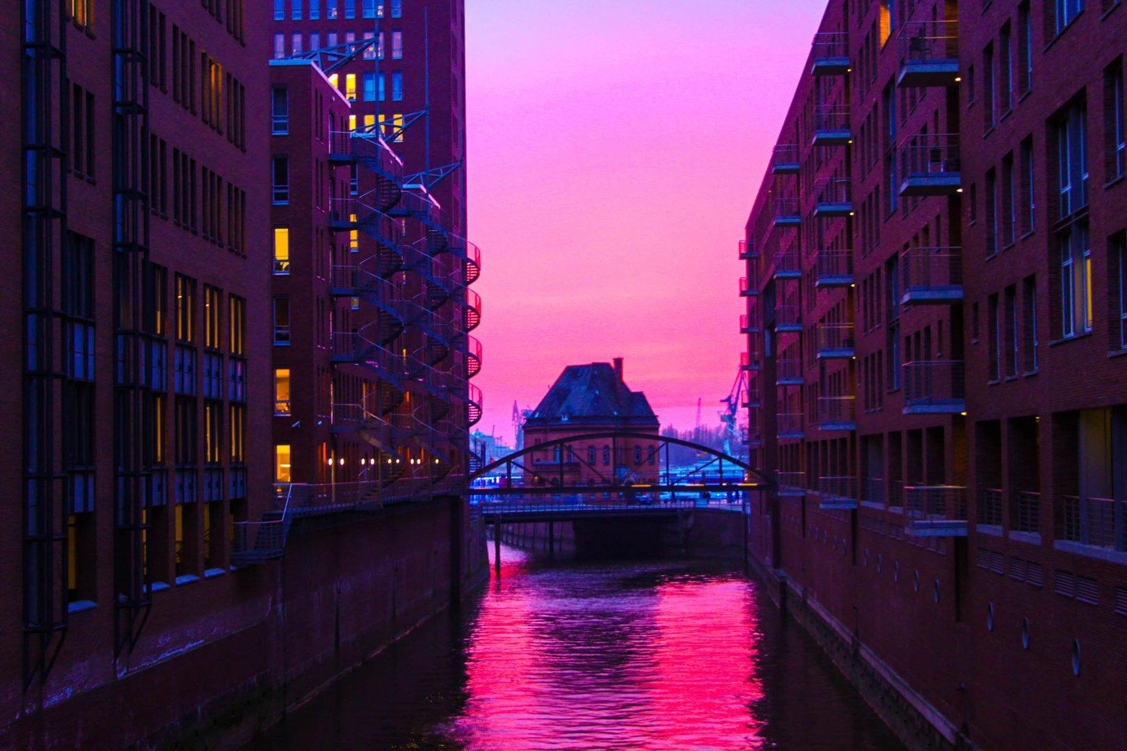 Hafencity bei Nacht - HAMBURG HAFEN