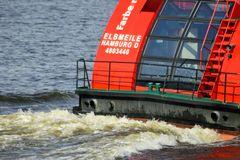 """Hafenfähre """"Elbmeile"""" im Hamburger Hafen ."""