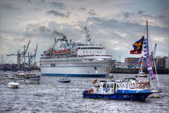 Hafengeburtstag 2014 - Es gab auch trockene Minuten....