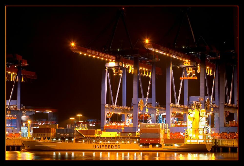 Hafenindustrie@Night o. Feuerwerk