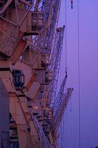Hafenkräne in Rente...
