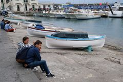 Hafenszene auf Capri