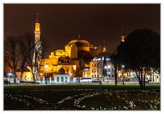 Hagia Sophia in der Nacht