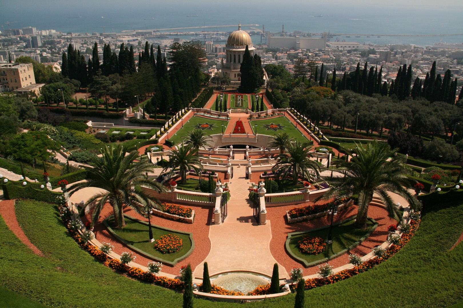 Haifa ( Israel ) -Die Gärten des Schrein des Bab in Haifa-
