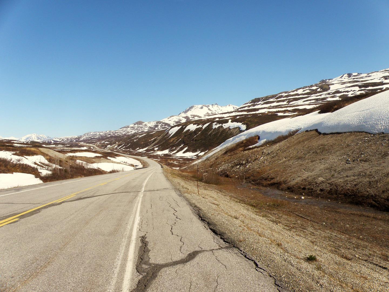 Haines Highway km 85 - kurz vor Haines Highway Summit