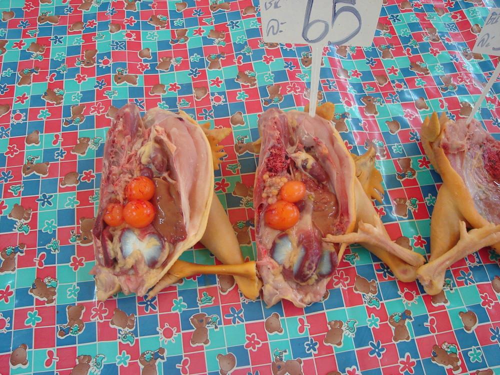 Halbes Hähnchen Thai Style Bangkok Thailand Markt