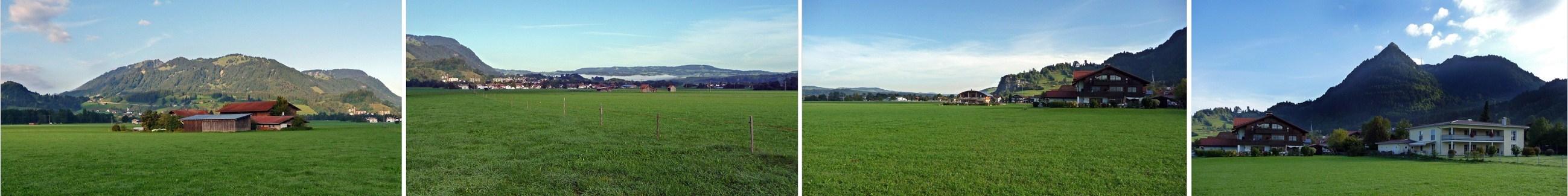 """""""Halbkreisblick von Burgberg in Richtung Blaichach-Immenstadt bis zum Grünten"""""""