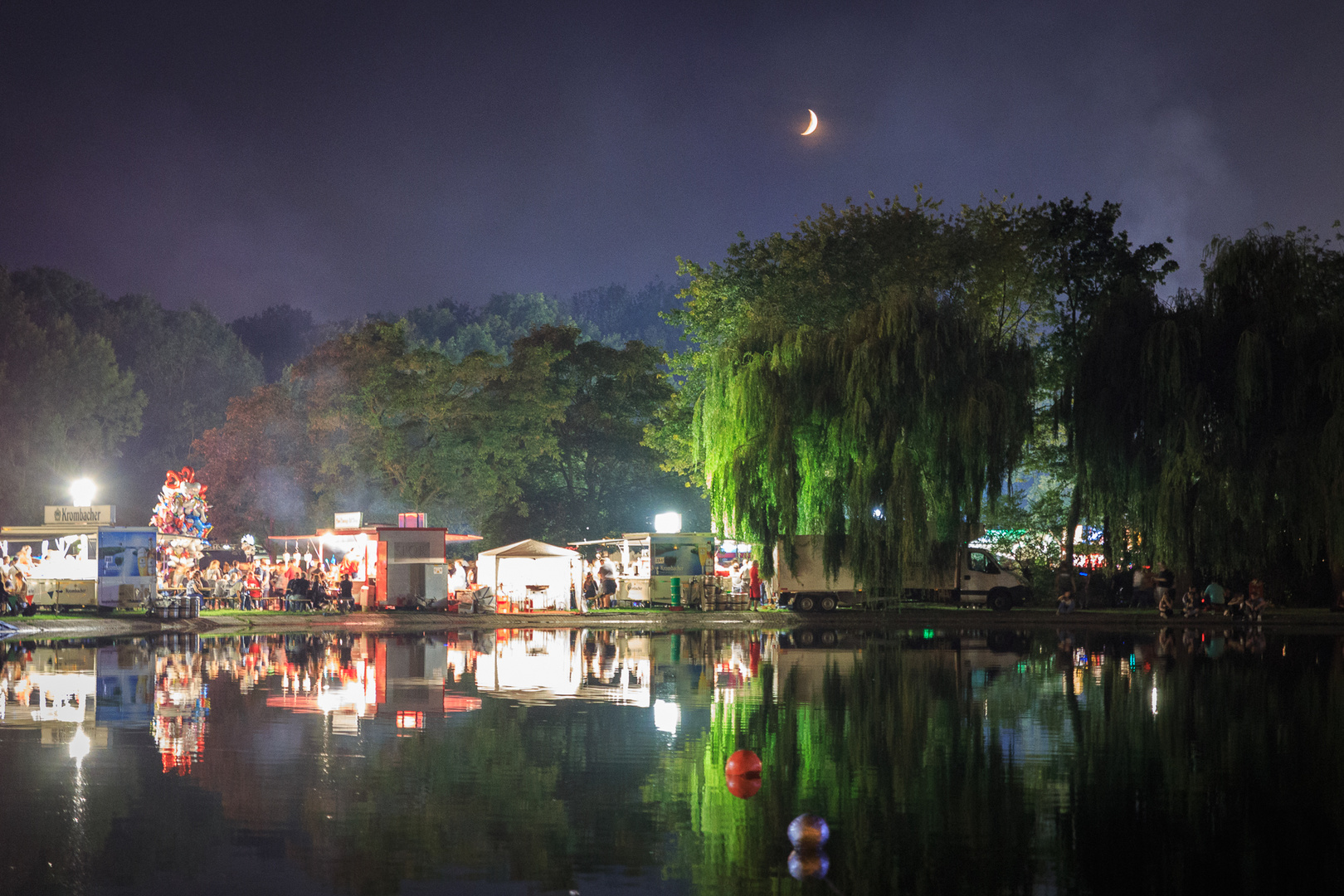 Hallenser Laternenfest bei Nacht