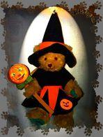 """""""Halloween-Bears""""...DER KÜRBIS leuchtet ..hihi !!!"""