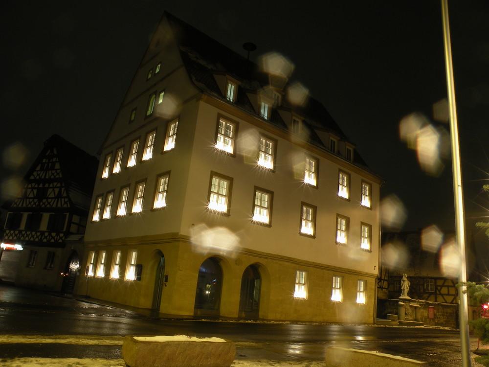 Hallstadt Rathaus bei der Anbetung