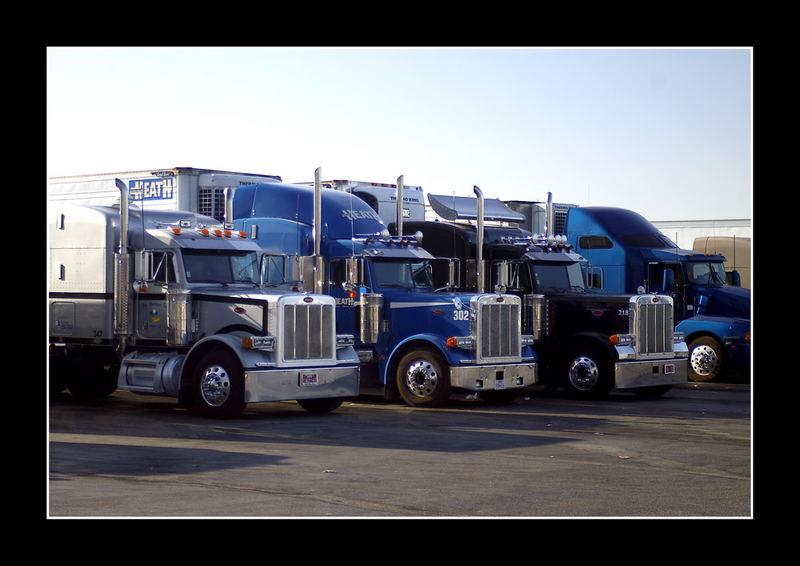 Halt auf einem Truckstop