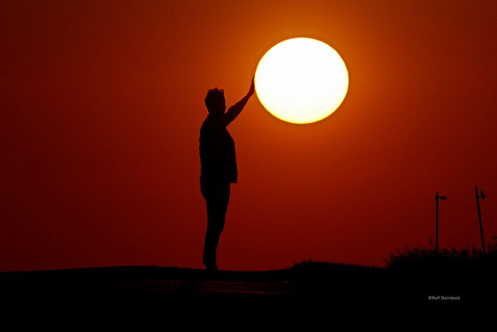 Halt fest an der Sonne