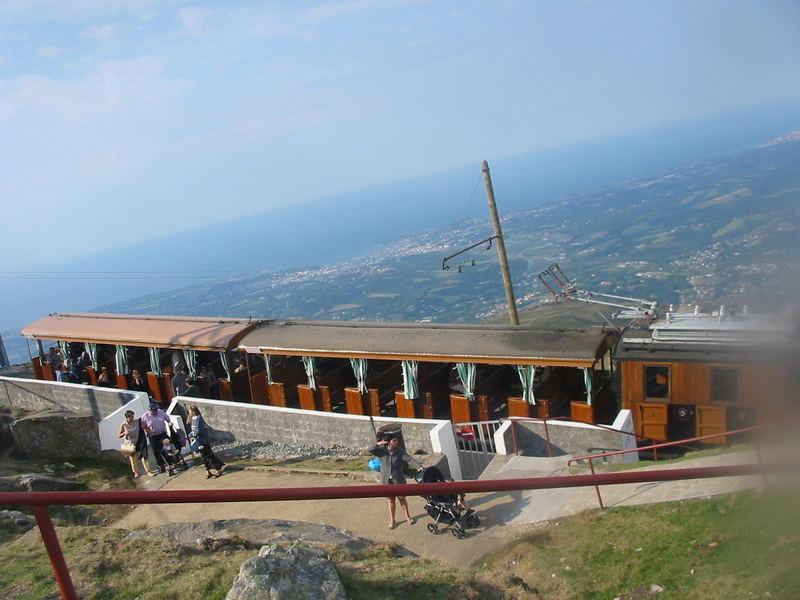 Haltestelle der Besichtigungsbahn