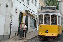 Haltestelle der Linie 12 in Lisboa