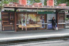 Haltestelle in Rotterdam