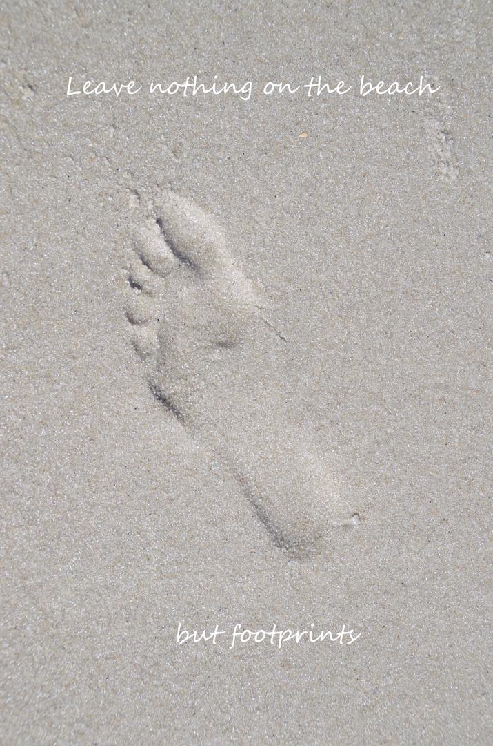 Haltet den Strand sauber