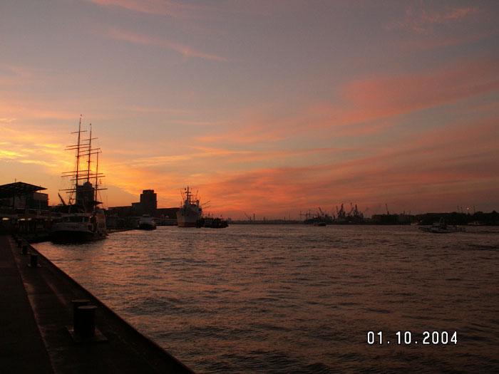 Hamburg am Morgen