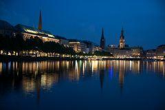 Hamburg, Binnenalster nach Gewitter