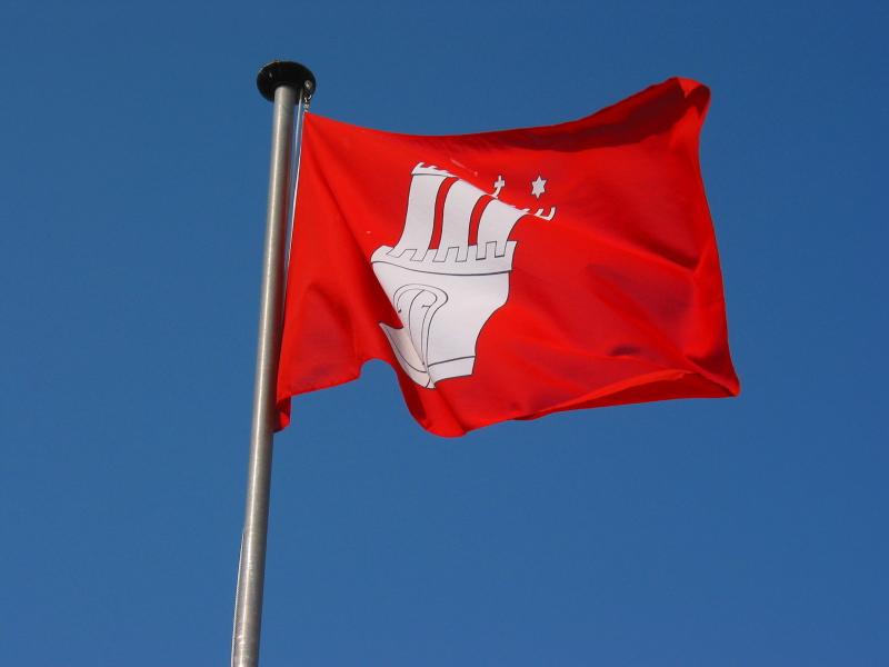 Hamburg Flag proudly waving on Sylt