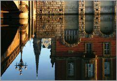 Hamburg, Fleetansichten - St. Nikolai - View of the ducts