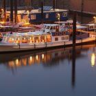 Hamburg Hafen - Sonnenuntergangsstimmung