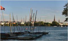 Hamburg, il lago Alster.