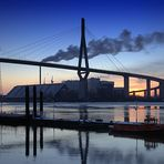 Hamburg Köhlbrandbrücke - Sonnenuntergang