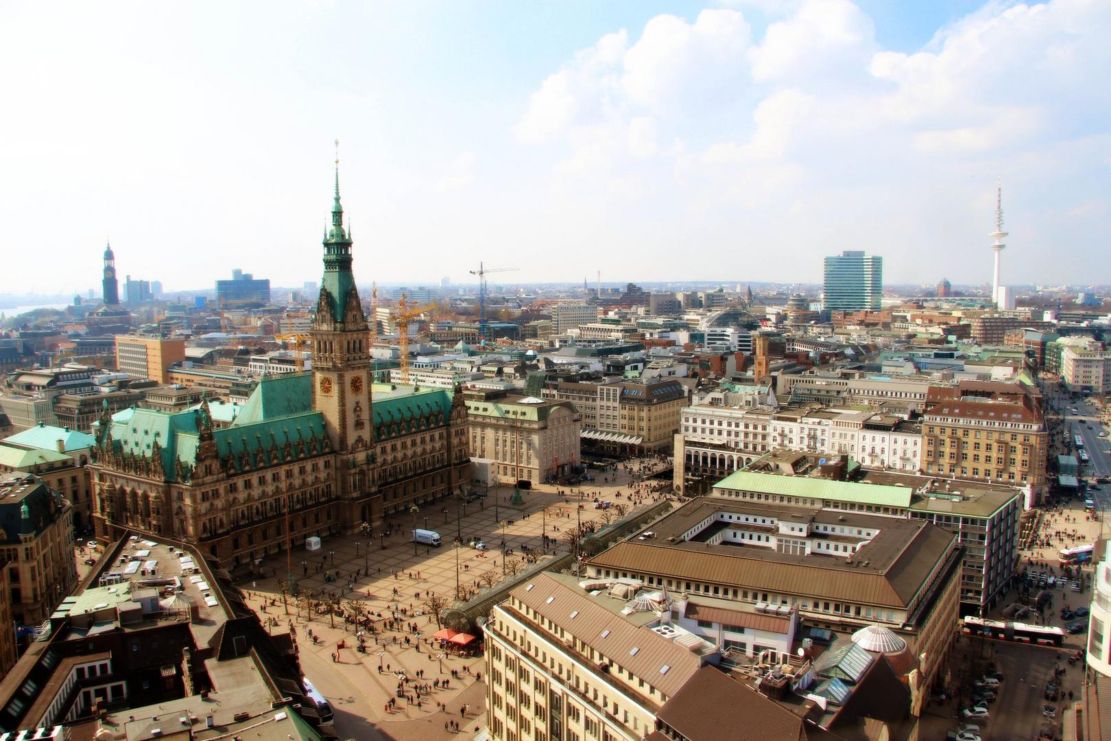 Hamburg; Rathausmarkt.