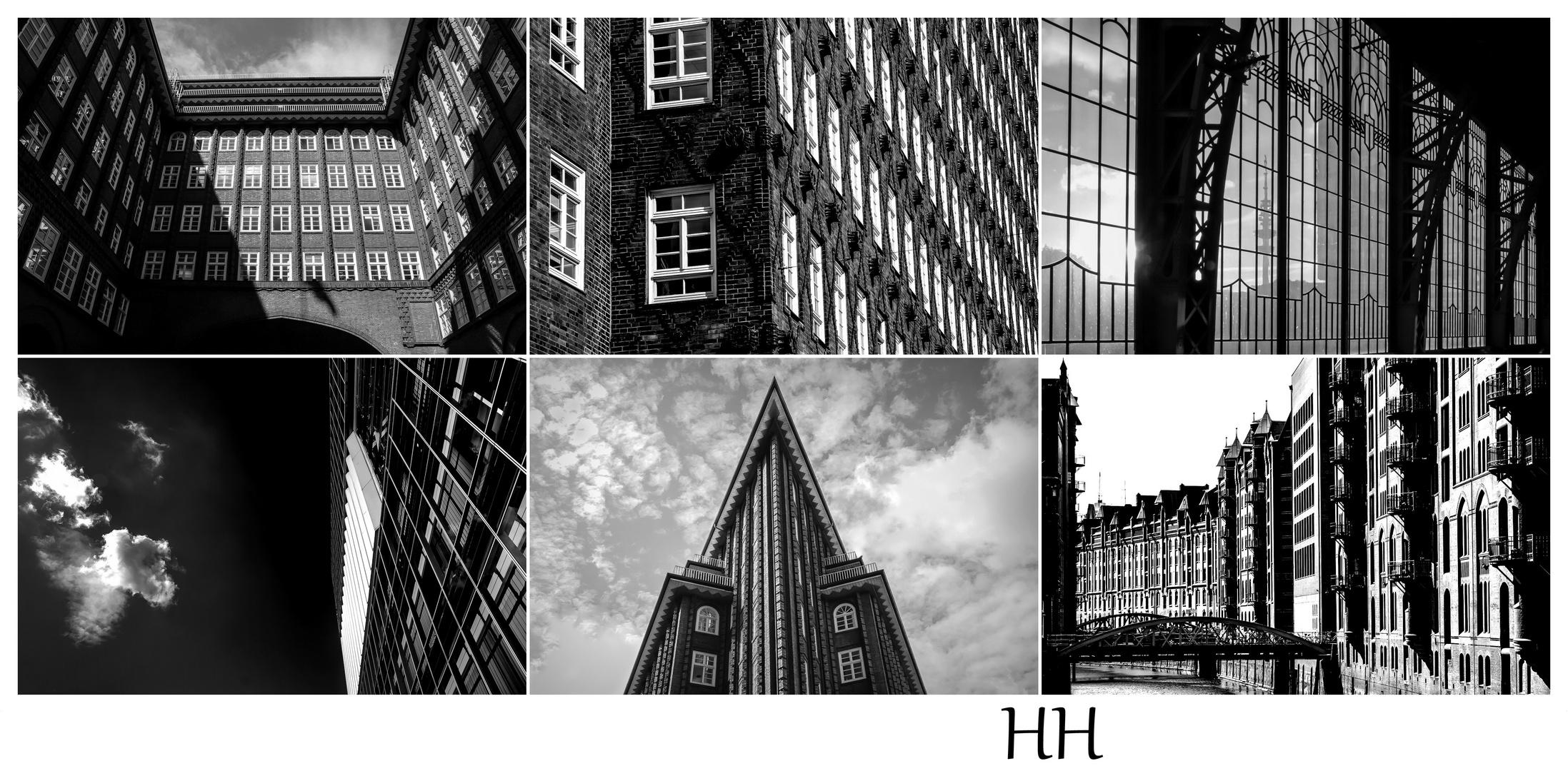 Hamburg schwarz/ weiß