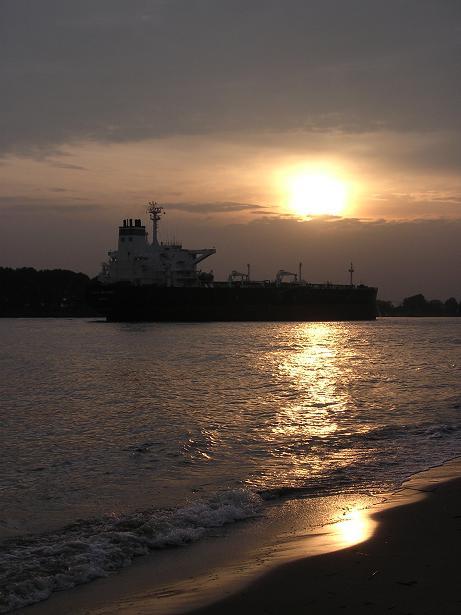 Hamburg und die Elbe im Oktober 2006