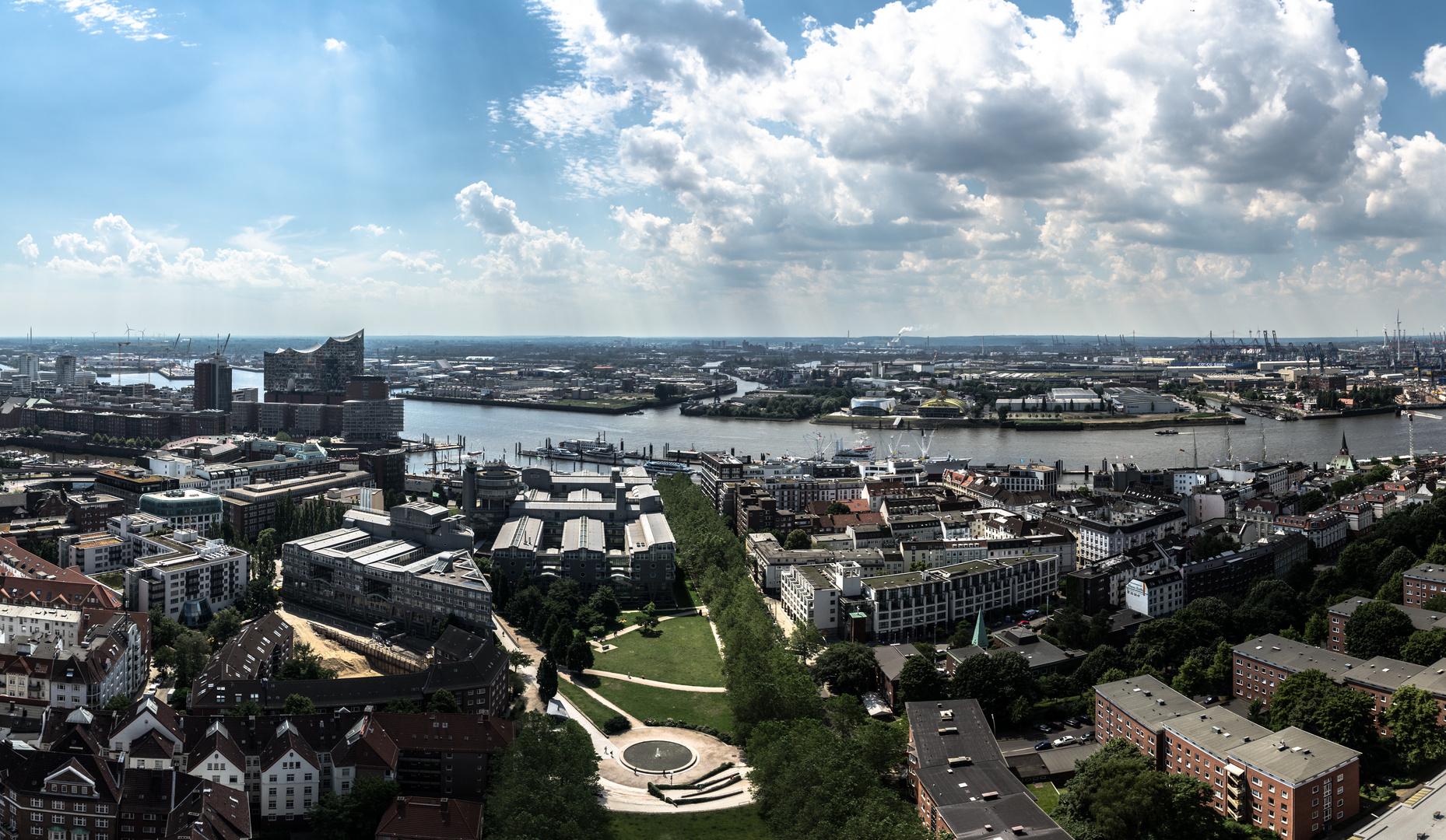 Hamburg-vom Michel aus