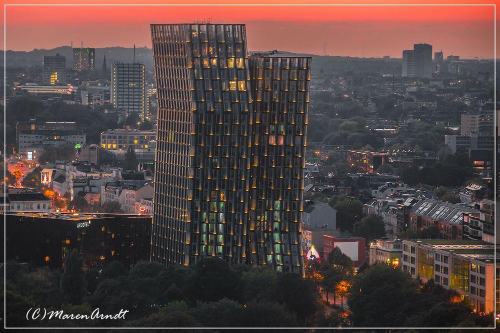 Hamburg vom Michel aus gesehen