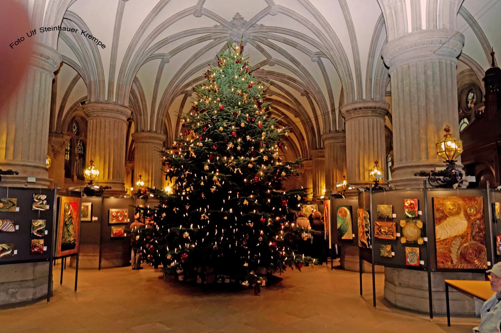 Hamburg Weihnachtsbaum im Rathaus