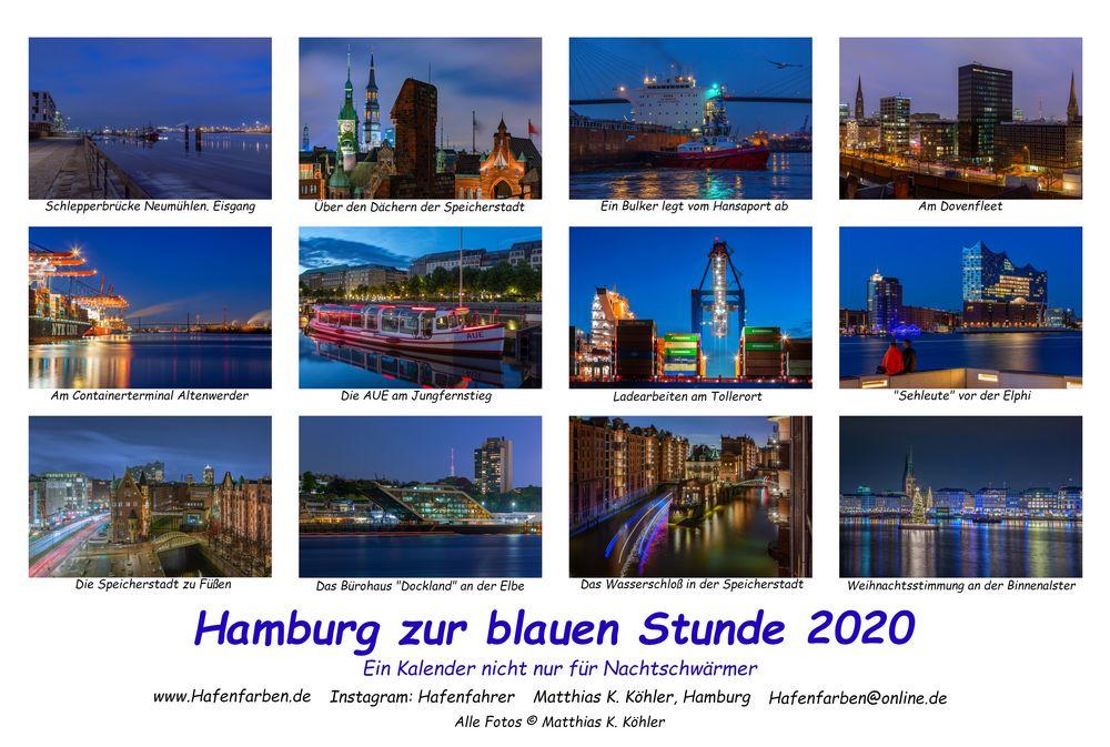 Hamburg zur blauen Stunde 2020