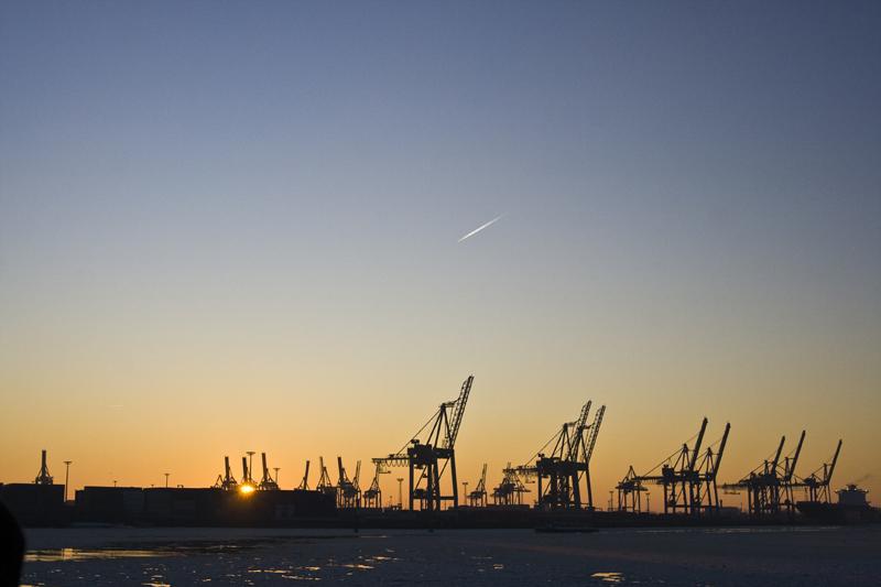 Hamburger Hafen 10.01.2009