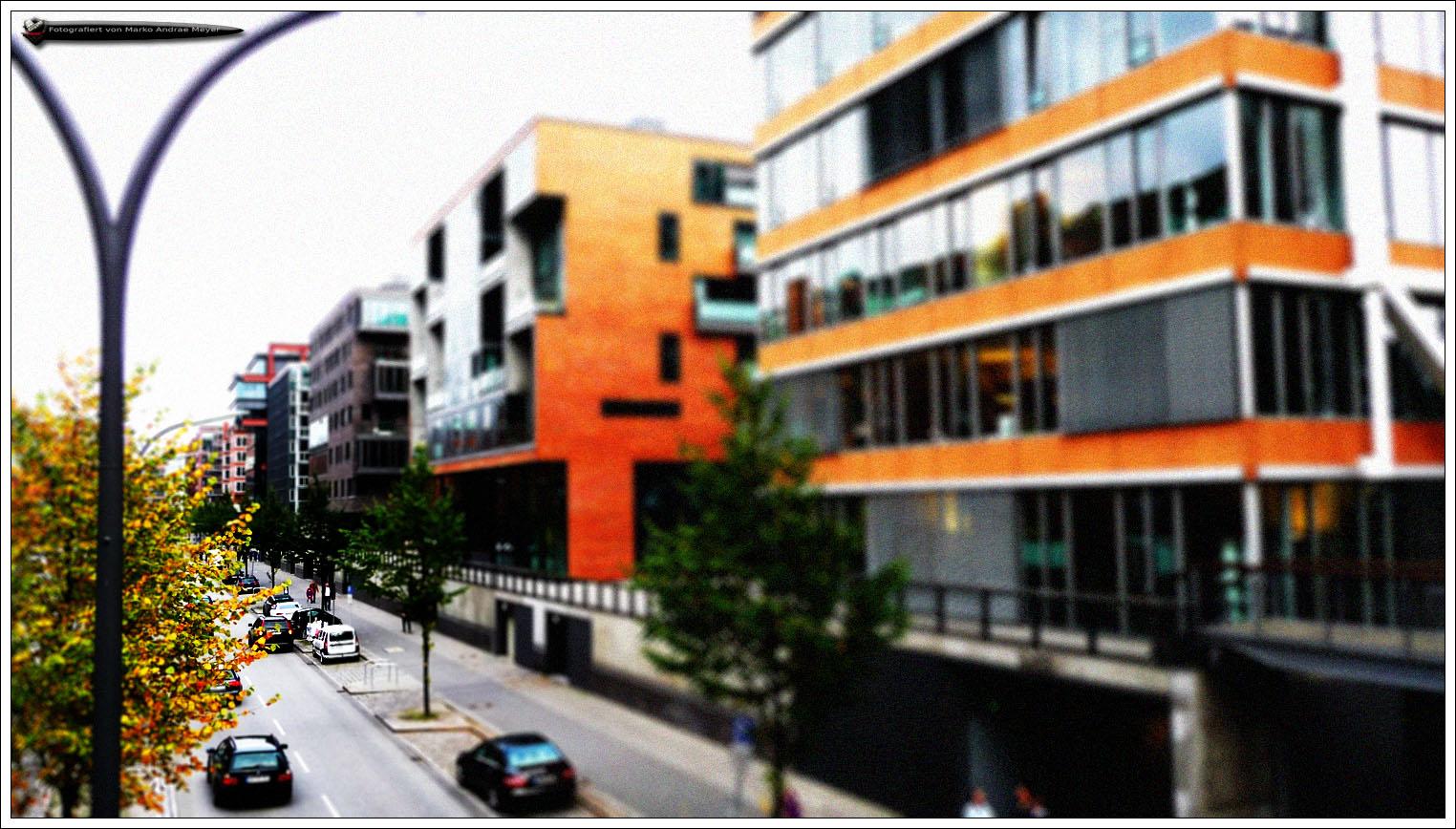 Hamburger Hafencity - Miniatureffekt (2)