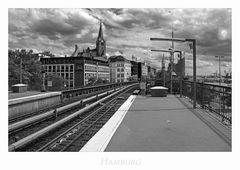 """Hamburger-Impressionen """" Blick von der S-Bahnstation - Landungsbrücke..."""""""