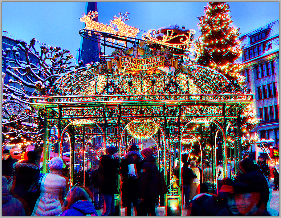 Hamburger Weihnachtsmarkt.Hamburger Weihnachtsmarkt Foto Bild Stereoskopische Raumbilder