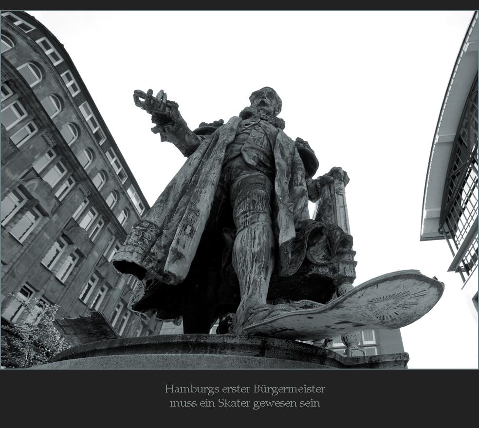 Hamburgs erster Bürgermeister...