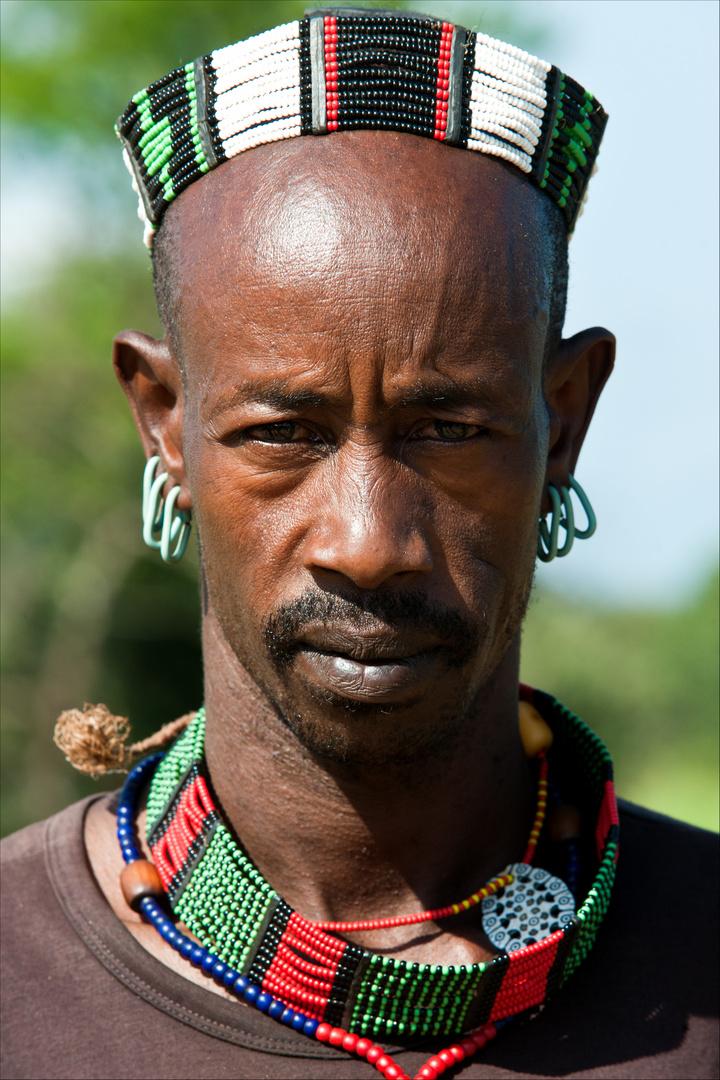 [ Hamer Tribe Man at Tigray ]