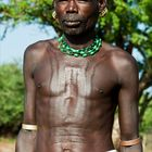 [ Hamer Tribe Man with Body Scarification ]