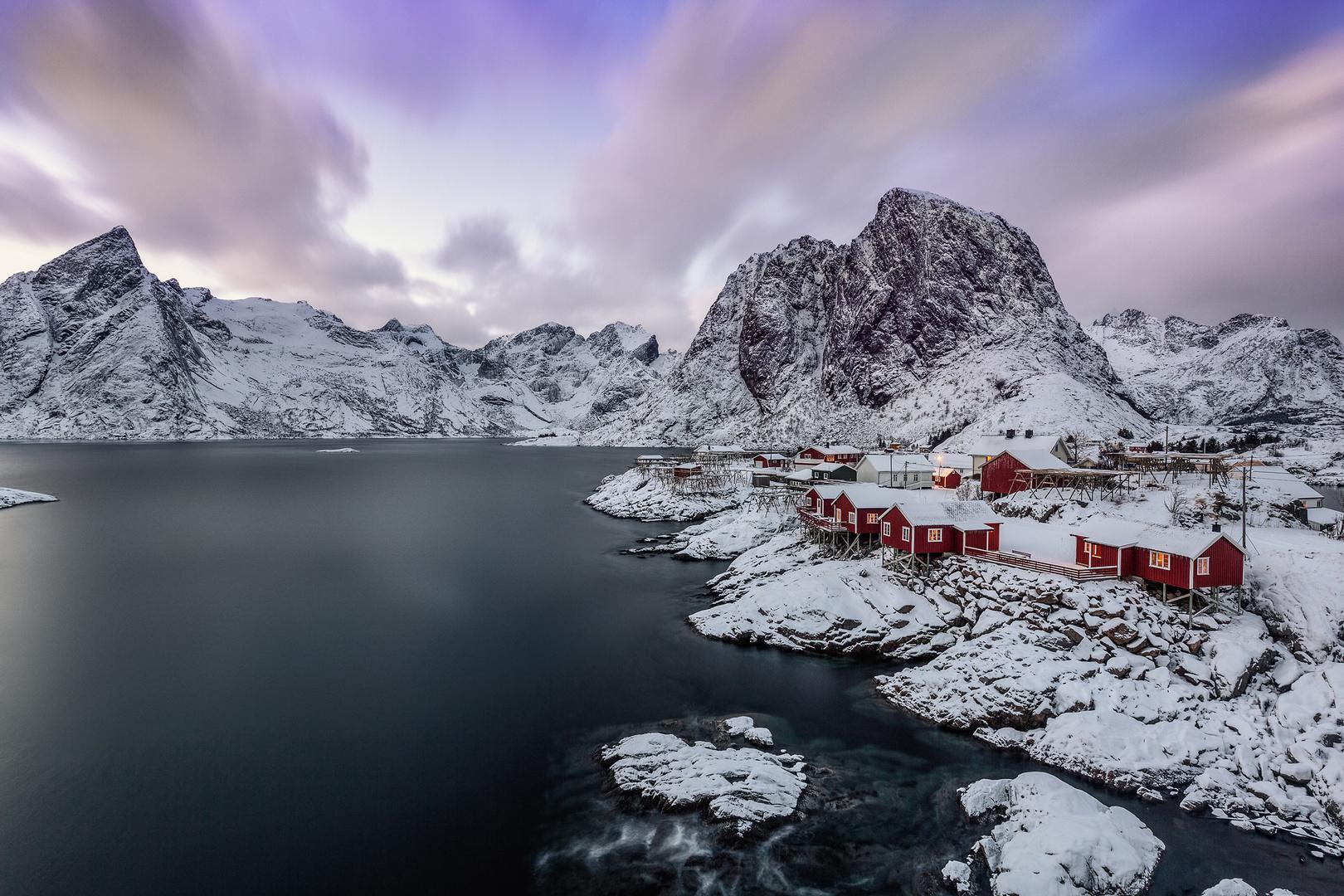 Hamnoya im Winter