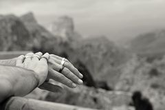 Hands and mountains