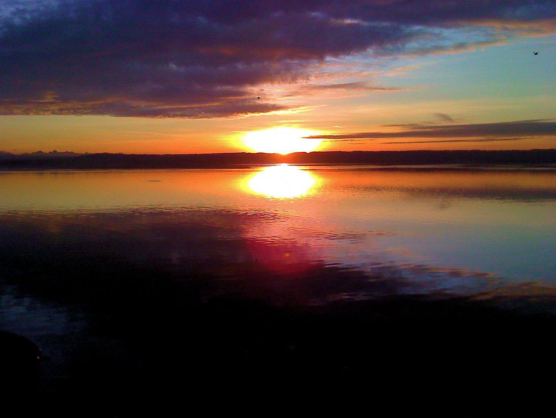 Handy Gruß Vom Ammersee Foto Bild Sonnenuntergänge Himmel