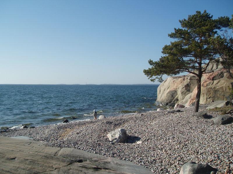 Hanko stone beach