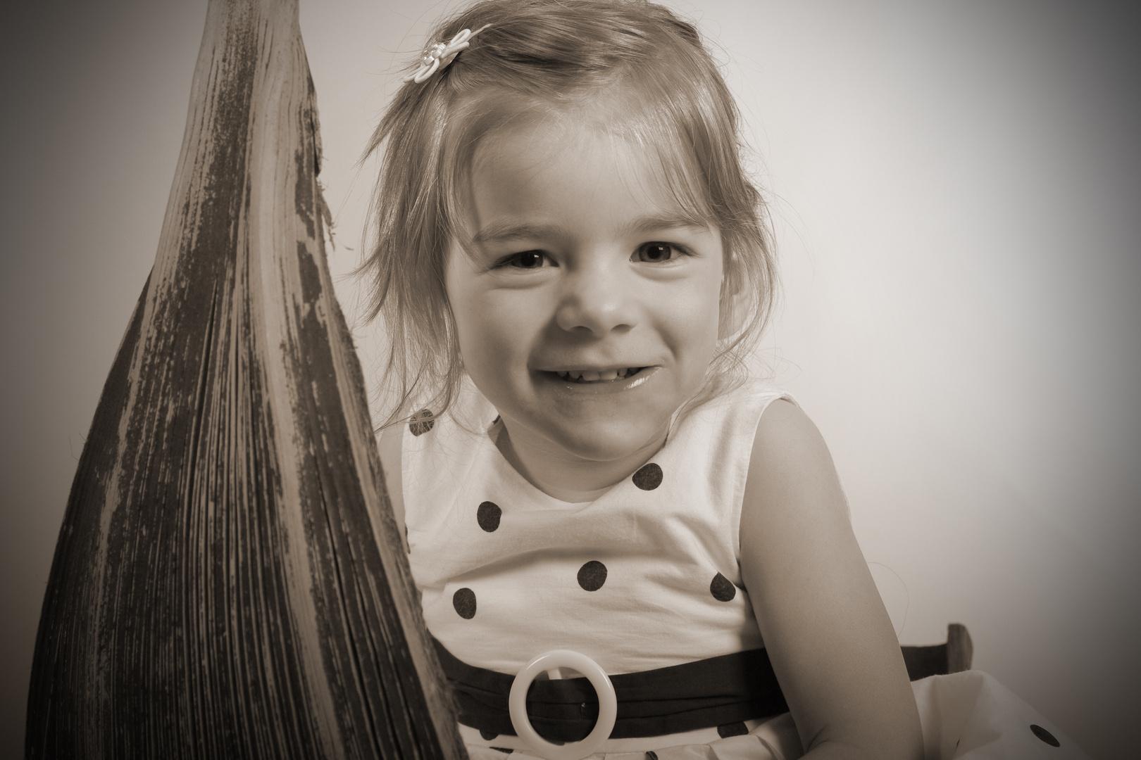 Hanna im Fotostudio