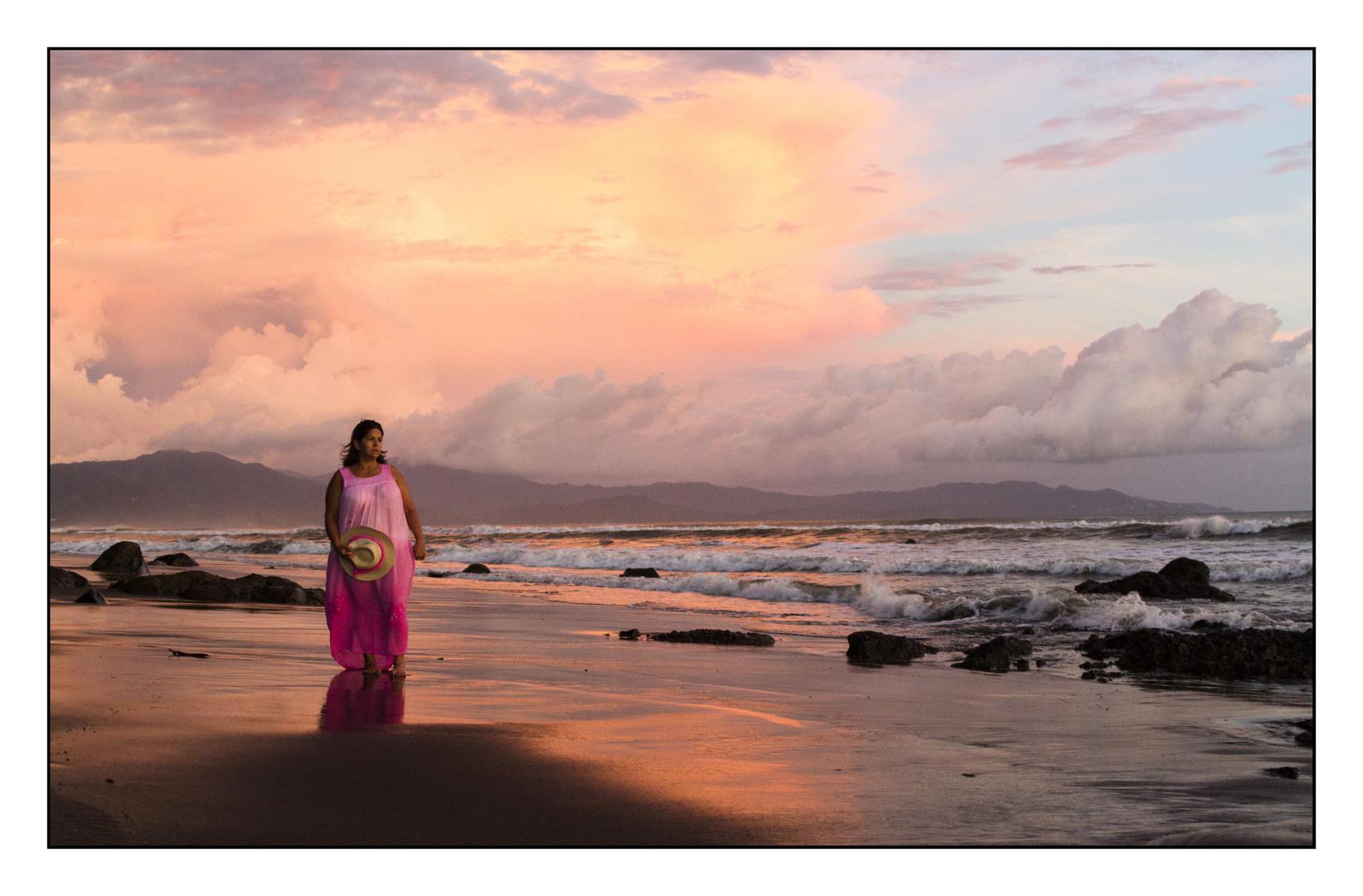 Hannia y el mar