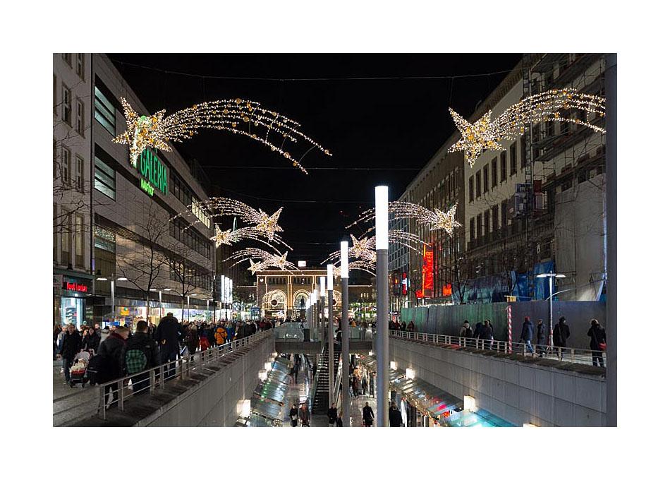 Hannover - Bahnhofstraße kurz vor Weihnachten